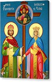 The Cross Icon Acrylic Print by Munir Alawi