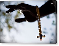 The Cross Acrylic Print by Linda Unger