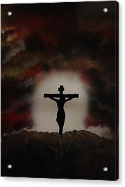 Acrylic Print featuring the painting The Cross by Michael Rucker