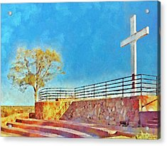 The Cross Of The Martyrs  Sante Fe  New Mexico  Acrylic Print by Digital Photographic Arts