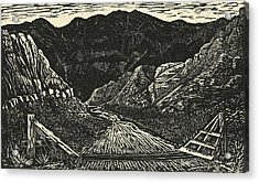 The Crossing Acrylic Print by Maria Arango Diener