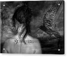 The Crow Acrylic Print by Joachim G Pinkawa