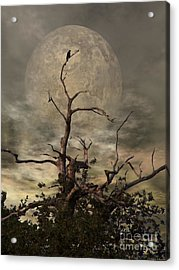 The Crow Tree Acrylic Print by Isabella F Abbie Shores FRSA