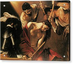 The Crowing With Thorns Acrylic Print by Caravaggio