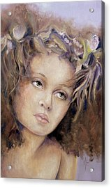 Acrylic Print featuring the painting The Crown by Jodie Marie Anne Richardson Traugott          aka jm-ART