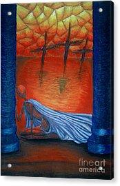 The Crucifixion Acrylic Print by Coriander  Shea