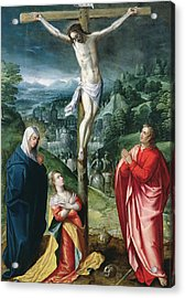 The Crucifixion Acrylic Print by Flemish School