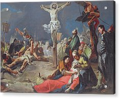The Crucifixion Acrylic Print by Giovanni Battista Tiepolo
