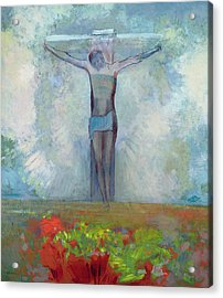 The Crucifixion Acrylic Print by Odilon Redon