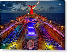 The Cruise Lights At Night Acrylic Print