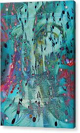 The Crying Tunes  Acrylic Print by Jerry Cordeiro