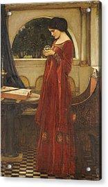 The Crystal Ball, 1902 Oil On Canvas Acrylic Print