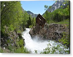 Acrylic Print featuring the photograph The Crystal Mill by Kate Avery