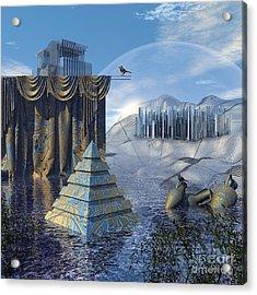 The Curtain Falls Acrylic Print by Diuno Ashlee