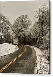 The Curved Road Acrylic Print
