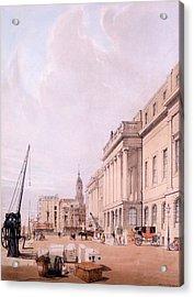 The Custom House, From London Acrylic Print by Thomas Shotter Boys