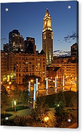The Custom House Of Boston Acrylic Print by Juergen Roth