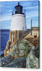 Castle Hill The Cutest Lighthouse In The World Acrylic Print
