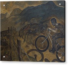 The Cyclist Acrylic Print by Fernando Alvarez