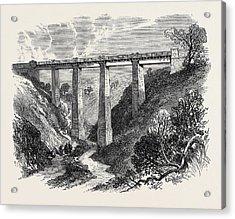 The Daff Viaduct Of The Greenock And Wemyss Bay Railway 1866 Acrylic Print