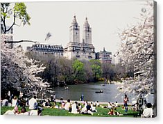 The Dakota From Central Park Acrylic Print by Linda  Parker