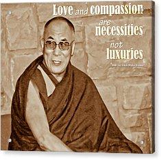 The Dalai Lama Acrylic Print