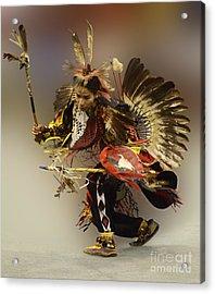 Pow Wow The Dance Acrylic Print by Bob Christopher