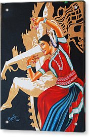 The Dance Divine Of Odissi Acrylic Print by Ragunath Venkatraman