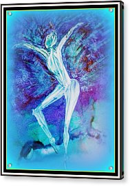 The Dance In Blue Acrylic Print