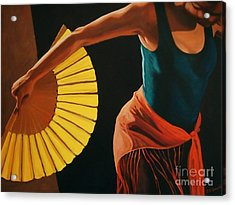 The Dance Acrylic Print by Janet McDonald