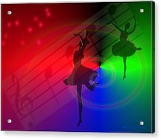 The Dance Acrylic Print by Joyce Dickens