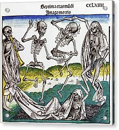 The Dance Of Death Acrylic Print by Cci Archives