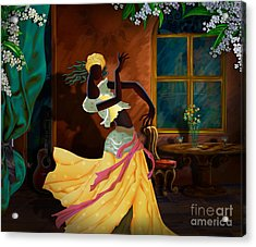 The Dancer Act 1 Acrylic Print by Bedros Awak