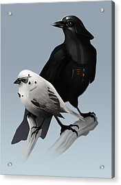 Acrylic Print featuring the painting The Dark Side Of The Flock by Michael Myers