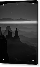 The Dark Side Of The Moon Acrylic Print by Dustin  LeFevre