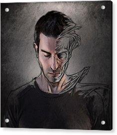 The Dark Side Of The Sketch Acrylic Print by Sebastien Del Grosso