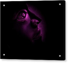The Darkest Hour - Magenta Acrylic Print by David Dehner