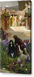 The Daughters Of Judah In Babylon Acrylic Print by Herbert Gustave Schmalz