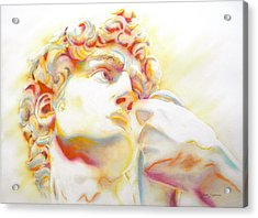 The David By Michelangelo. Tribute Acrylic Print by J- J- Espinoza