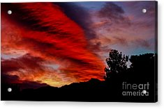 The Day Is Done Acrylic Print by Angela J Wright