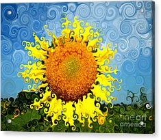 The Day Of The Sunflower Acrylic Print by Lorraine Heath