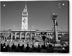 The Day The Circus Came To Town Again Dsc1745 Bw Acrylic Print