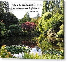 The Day The Lord Has Made Acrylic Print
