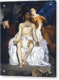 The Dead Christ With Angels Acrylic Print by Edouard Manet