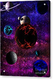 The Dead Solar System  Acrylic Print by Naomi Burgess