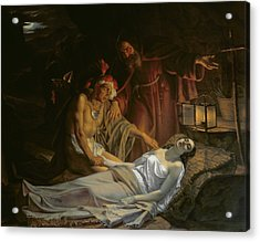 The Death Of Atala Acrylic Print by Cesare Mussini