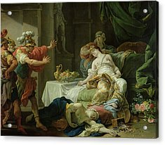 The Death Of Cleopatra, 1755 Oil On Canvas Acrylic Print