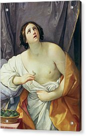 The Death Of Cleopatra Acrylic Print by Guido Reni