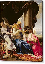 The Death Of Dido, 1642-43 Oil On Canvas Acrylic Print by Simon Vouet