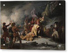 The Death Of General Montgomery In The Attack On Quebec, December 31, 1775, 1786 Oil On Canvas Acrylic Print by John Trumbull
